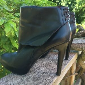 Jessica Simpson Hooded Leather Booties